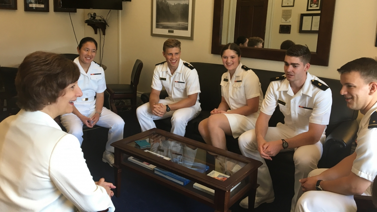 Bonamici meeting with Naval Academy Students, May 2017