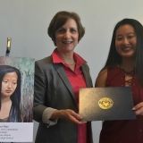 Suzanne Bonamici with 2017 Art Competition Winner